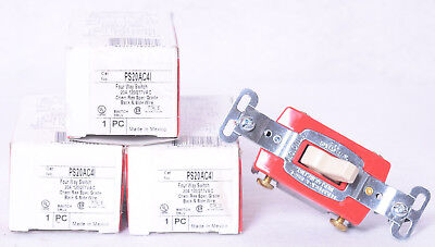 Pass & Seymour 4 Way Toggle Switches PS20AC4I 3 Count