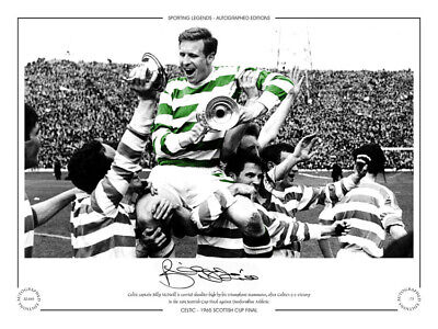 SL040 - HAND SIGNED LIMITED EDITION CELTIC 1965 BILLY McNEILL