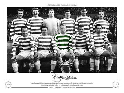 SL415 - HAND SIGNED LIMITED EDITION CELTIC 1965 BILLY McNEILL