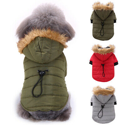 Pet Small Dog Puppy Waterproof Coat Hoodie Thick Jacket Clothes Apparel Outwear