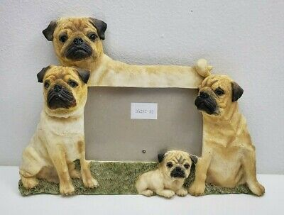 """FAWN PUG DOG Puppy Picture Frame for a 4"""" X 6"""" Photo"""