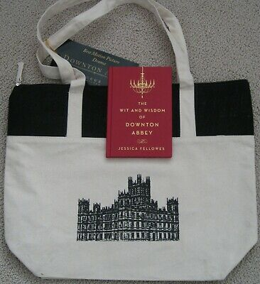 Downton Abbey 2019 Movie Promotional Canvas Tote Bag + The Wit And Wisdom Book