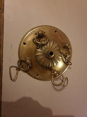 Lovely Old brass ceiling rose/light fitting