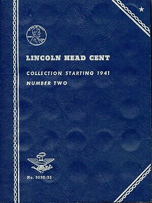 Incomplete Whitman Lincoln Head Cent Collection Starting 1941 Coin Folder EQ553