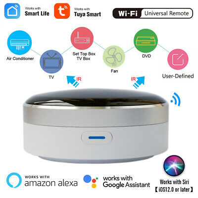 WIFI Smart IR Remote Controller Home Air Conditioning TV Switch Voice Control