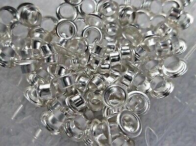 > 100 Silver Tone CORES For European Beads 7mm With 4-5mm Hole