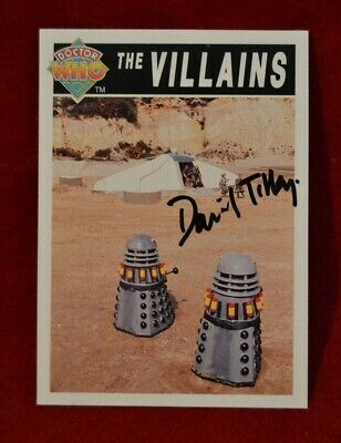 Doctor Who Trading Card Signed by David Tilley