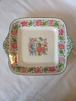 Vintage Wedgwood Cake / Sandwich Plate I Floral And Foliage Pattern. Beautiful.