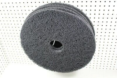 "17"" Black Floor Maintenance Scrubbing Pads, 4/Case"