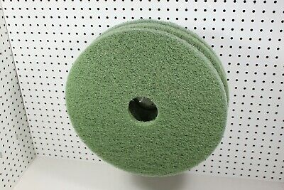 "17"" Green Floor Maintenance Scrubbing Pads, 3/Case"