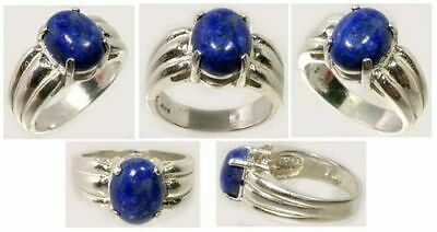Lapis Lazuli Ring 19thC Antique Gem of Meso-America Peru Moche Chimu Inca