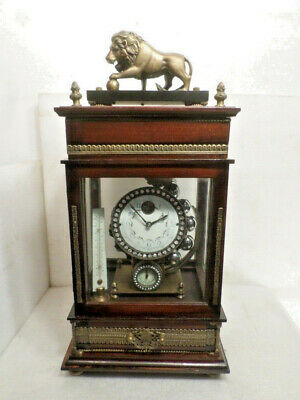 Lion Top Falling Ball Mystery Clock--Never Wind This Clock With A Key
