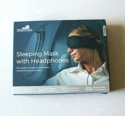 Hibermate Sleep Headphones & Sleeping Mask - 3.3 ft Cable, Premium Cotton NEW