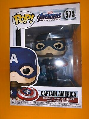 Funko Pop Avengers Captain America with Mjolnir and Broken Shield 573-IN HAND