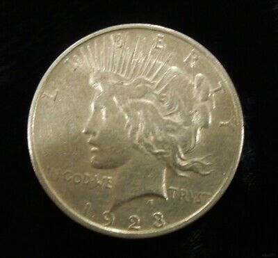 1923 P Peace Silver Dollar - 90% US Silver Coin, NO RESERVE - excellent
