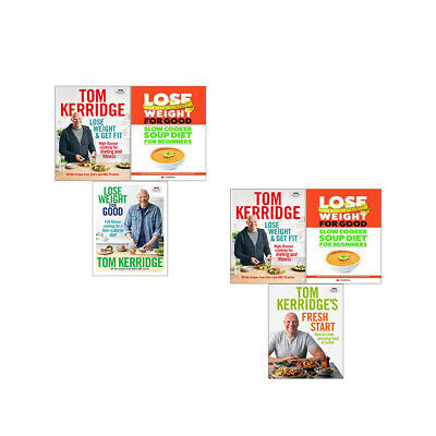 Lose Weight & Get Fit,Tom Kerridge's Fresh Start Books Pack Collection Set New