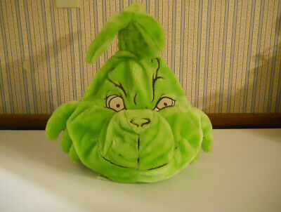 The Grinch Who Stole Christmas plush Backpack child size glow in dark eyes    C8