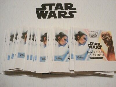 100 cartes stickers  STAR WARS Leclerc 2019