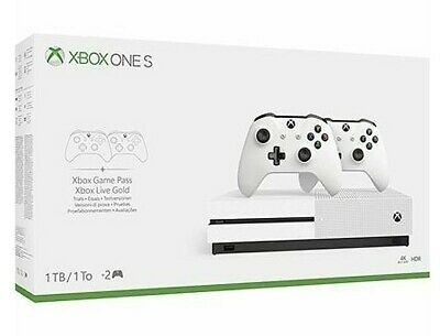 Xbox One S 1TB Two Controller Console Bundle
