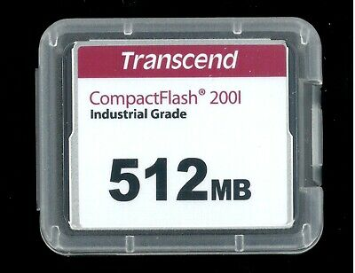 Transcend Compact Flash Memory Industrial 512 Mb. Nuova