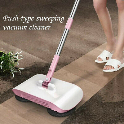 Spin Hand Push Sweeper Broom Household Floor Cleaning Mop without Electricity UK