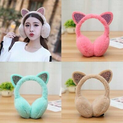 Winter Women Earmuffs Cat Headband Lovely Cute Ear Muffs Kid Warmers