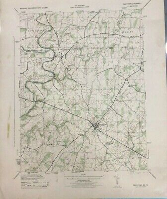 """U.S. Geological Survey vintage 1952 18"""" x 22"""" map of TANEYTOWN MD"""