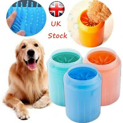 UK Portable Dog Paw Cleaner Dog Foot Cleaner Silicone Pet Cleaning Brush Cup