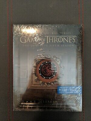 Game Of Thrones Season 5 Steelbook SEALED BRAND NEW with Sigil Magnet