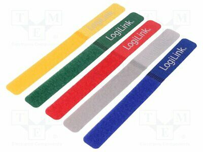 Touch Fastener Cable Tie L:180mm W:20mm Red, Blue, Grey, Green, Yellow KAB0008