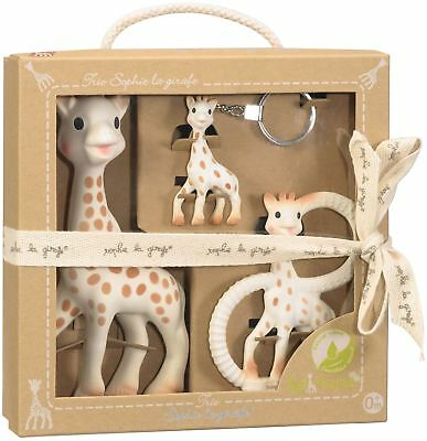 SOPHIE THE GIRAFFE TRIO Baby Teether Toy BN
