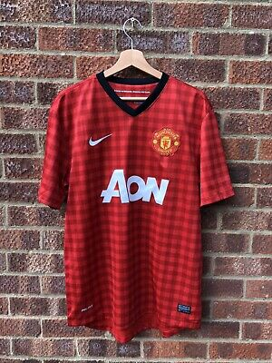 Manchester United 2012/2013 Home Football Shirt - Large