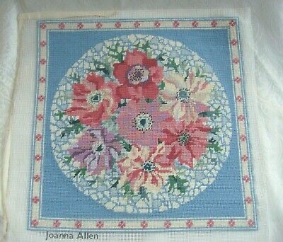Vintage PRIMAVERA Tapestry Cushion Cover by Joanna Allen  -  Completed