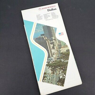VINTAGE CITY STREET MAP DALLAS TX Fort Worth & Vicinity 1970s