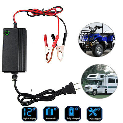 12V Auto Car RV Lead-Acid Battery Charger For Trickle Maintainer Boat Motorcycle