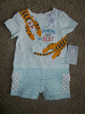 GENUINE AUS  QLTY Disney Tigger Baby Romper One Piece Coverall with Booties SALE