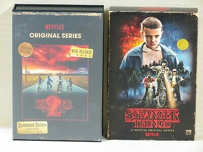 "Stranger Things Seasons 1 and 2 Blu-Ray/DVD Collector Edition Sets,""VHS Box"""