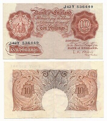Bank of England 10 Shillings O'Brien ND (1955-60) P. 368c VF Note