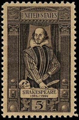 USA 1964 (2 for $1 Auction) - William Shakespeare (1554-1616) - MNH - Sc. #1250