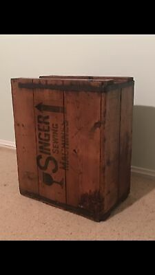 Singer Sewing Wooden Box