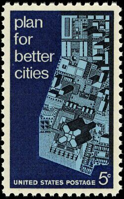 USA 1967 (2 for $1 Auction) - Urban Planning Issues - View of Model City - #1333