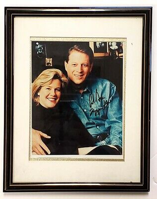 Al Gore and Tipper Gore Signed Photograph Framed