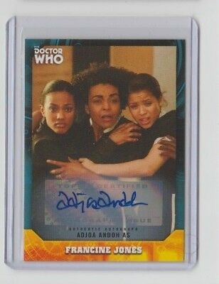 Doctor Who Signature Series Autograph Adjoa Andoh as Francine Jones #42