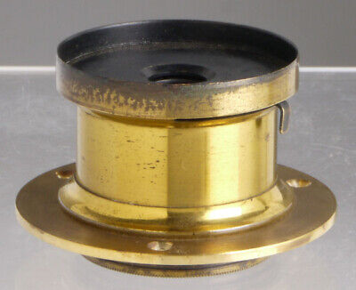 antique brass lens, daguerreotype style, for Wood Plate Field cameras_collodion