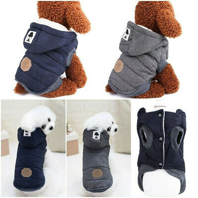 Dog Coats Pet Cat Puppy Chihuahua Clothes Hoodie Warm for Small Dog S~XXL Winter