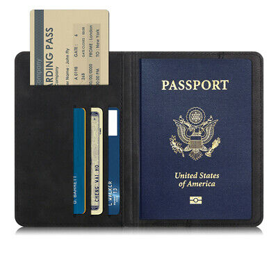 Passport Holder Cover ID Card Wallet Organizer Cash Case For Travel PU Leather