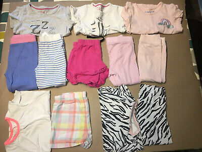 Girls 2-3 Years Pyjama Bundle - 5 pairs + 2 PJ Trousers - M&S & Mothercare