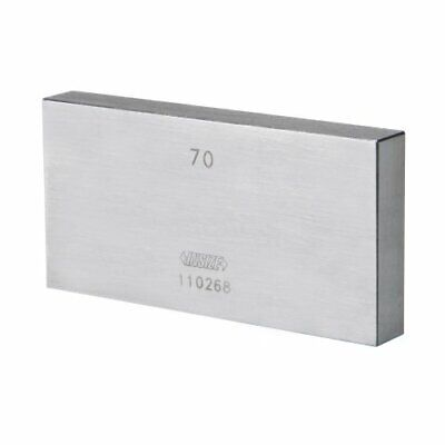 INSIZE 4101-A125 Individual Steel Gage Block, Grade 0 With Inspection Certificat