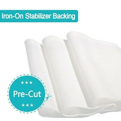 5-10m FLUORESCER-FREE 75D Iron-on Embroidery Stabiliser/Backing Anti-itchy Tag