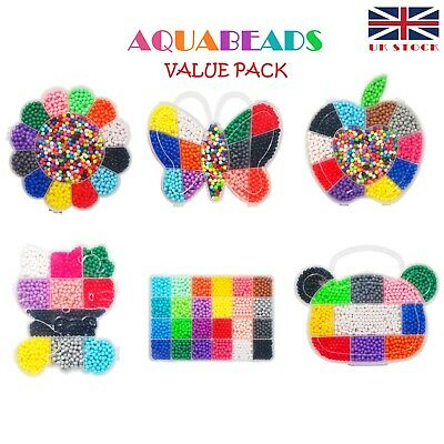 Aquabeads Refill Pack Over 2000/2500/3000 Beads with SEPARATE Solid/Mixed Colors